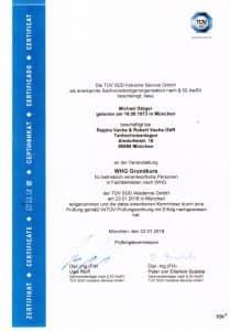 TÜV Zertifikat - Michael Stöger
