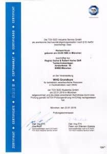 TÜV-Zertifikat Tankschutz Vacha - Richard Koch